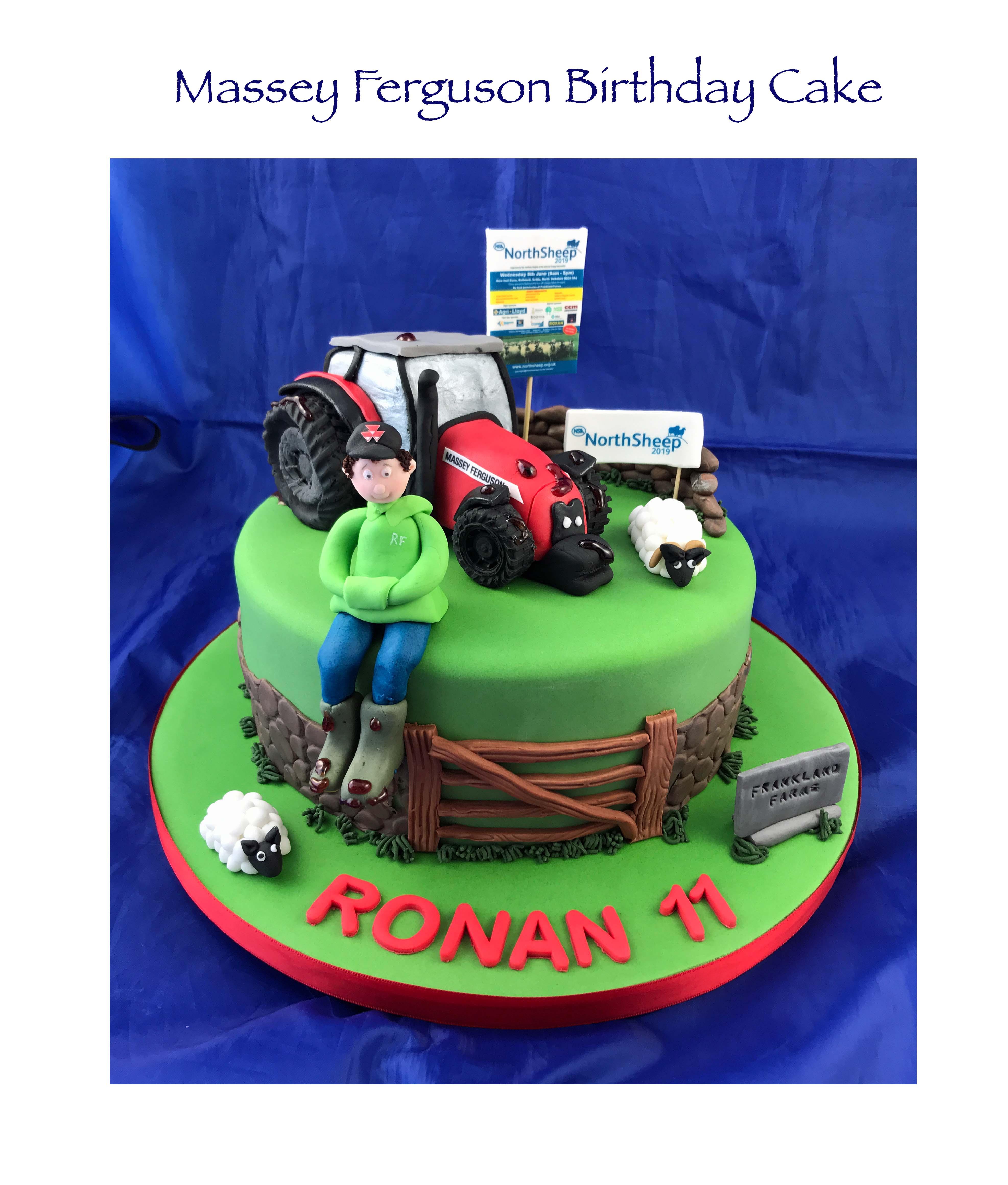 Massey Ferguson Tractor - Sheep Show Cak