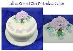 Lillac Rose 80th birthday cake
