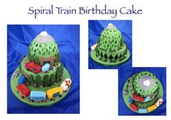 Spiral Train Cake