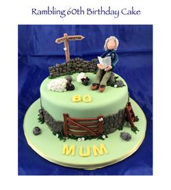 Rambling 60th Birthday Cake 2