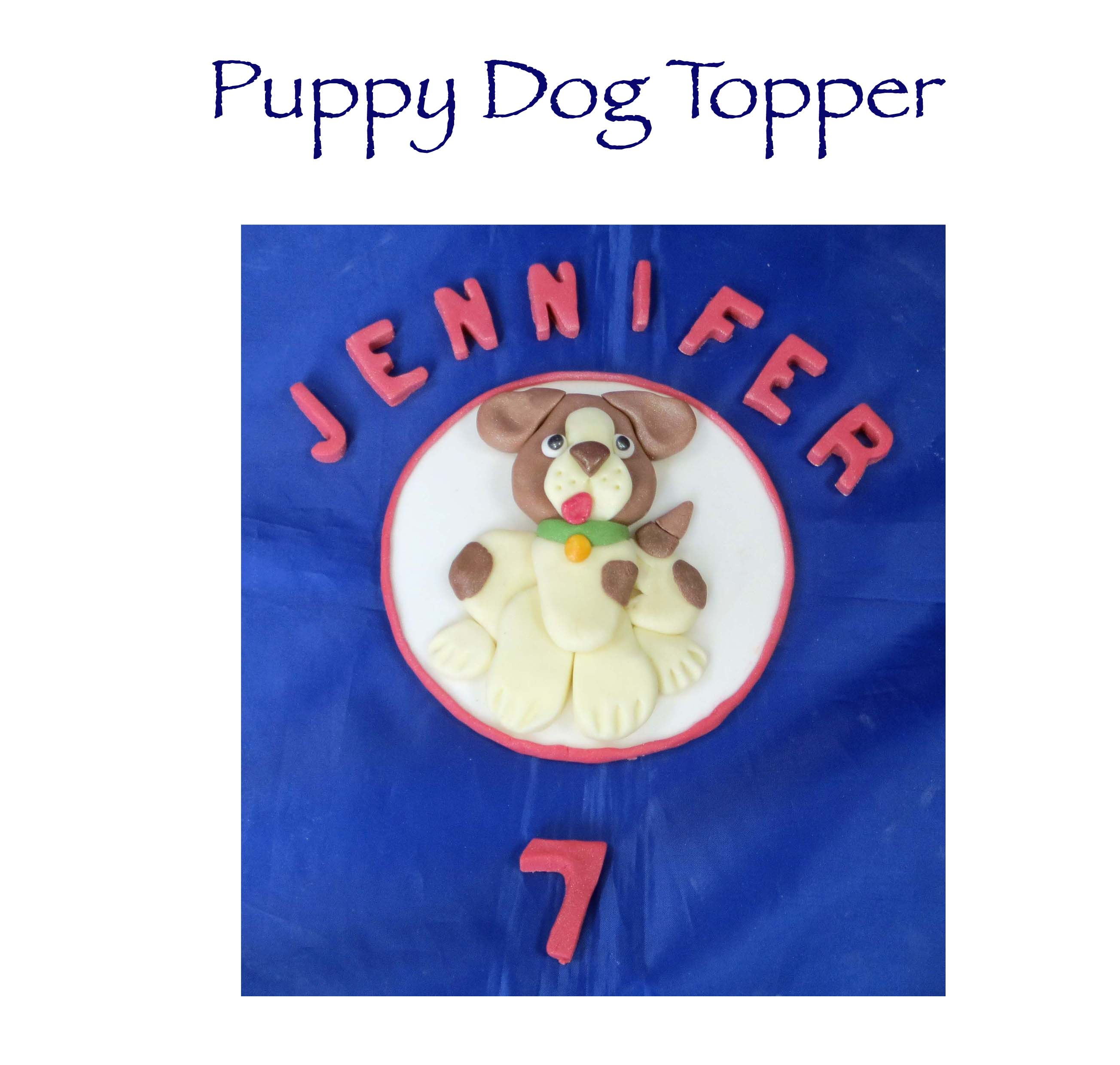 Puppy dog topper
