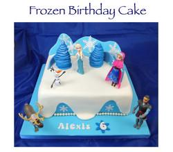Frozen (Alexis) Birthday Cake
