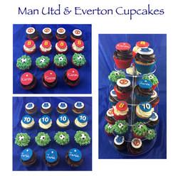 Man Utd & Everton Cupcakes