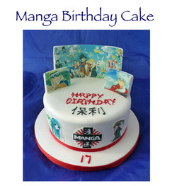 Manga Birthday Cake