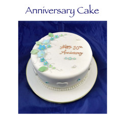 30th Anniversary Forget me not cake