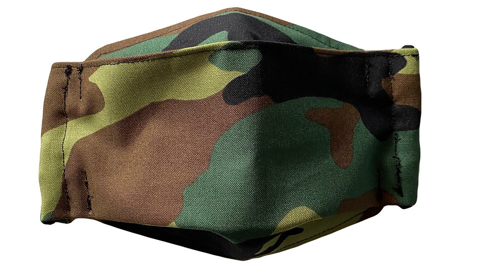 Green camouflage - 3D Mask