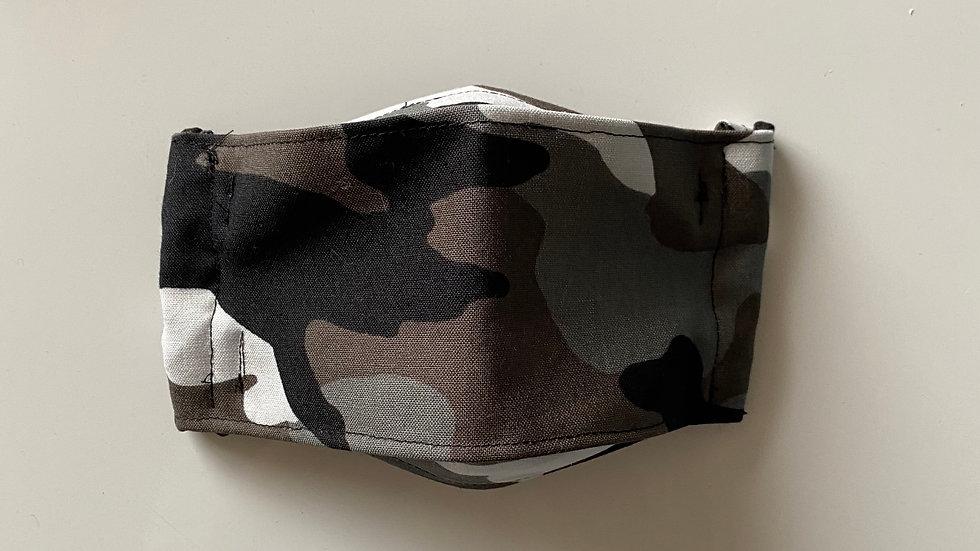 Black camouflage - 3D Mask