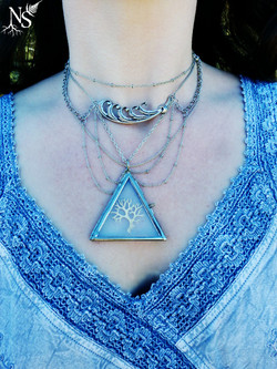 Purity Spell necklace closeup ❉ Gos plan sur le collier Purity Spell
