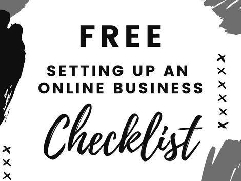 FREE Setting Up an Online Business Checklist