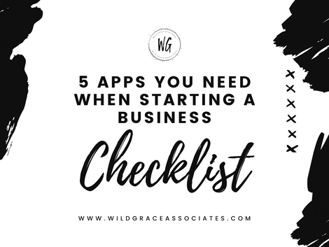 5 Apps You Need When Starting a Business FREE Checklist