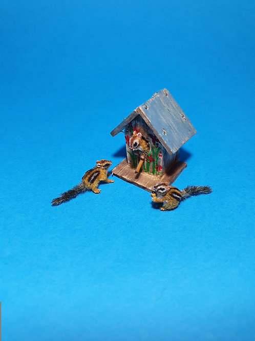 One of a kind miniature Chipmunks