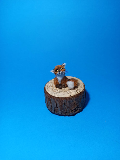 One of a kind miniature baby fox