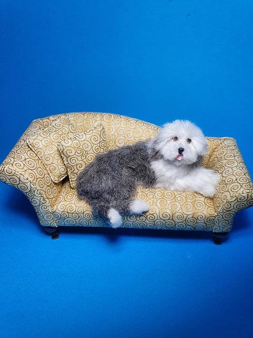 One of a kind miniature Old English Sheepdog