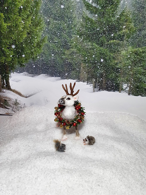 One of a kind miniature reindeer
