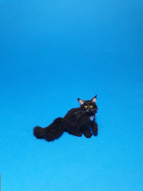 One of a kind miniature black cat