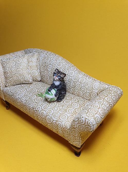 One of a kind miniature Tabby cat kitten