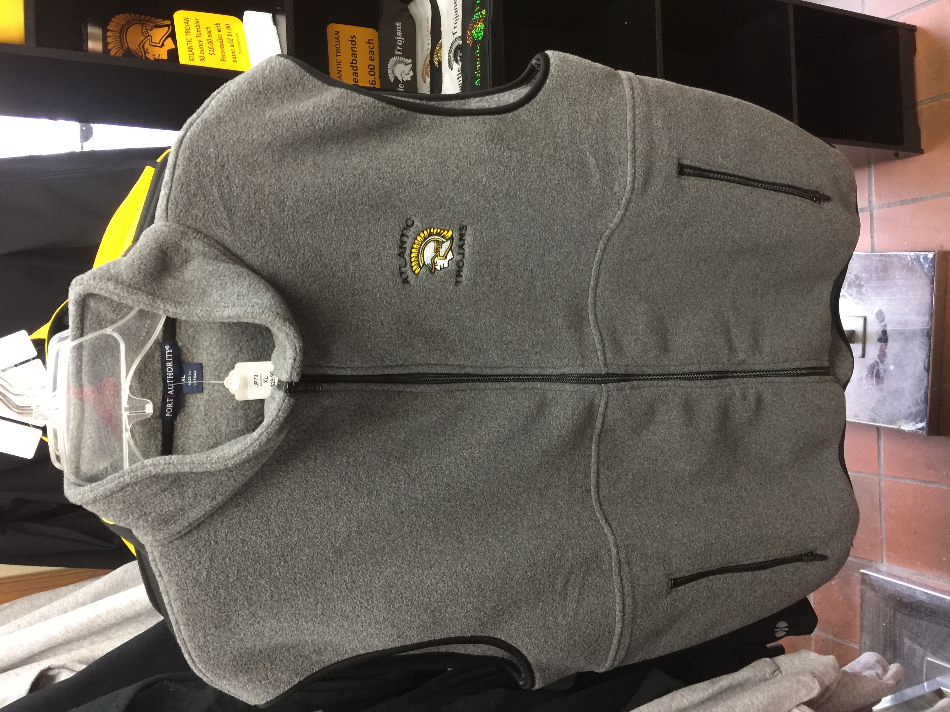 Gray Fleece Vest