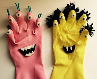 rubber glove monsters.JPG