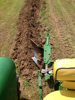 Deere power and plow