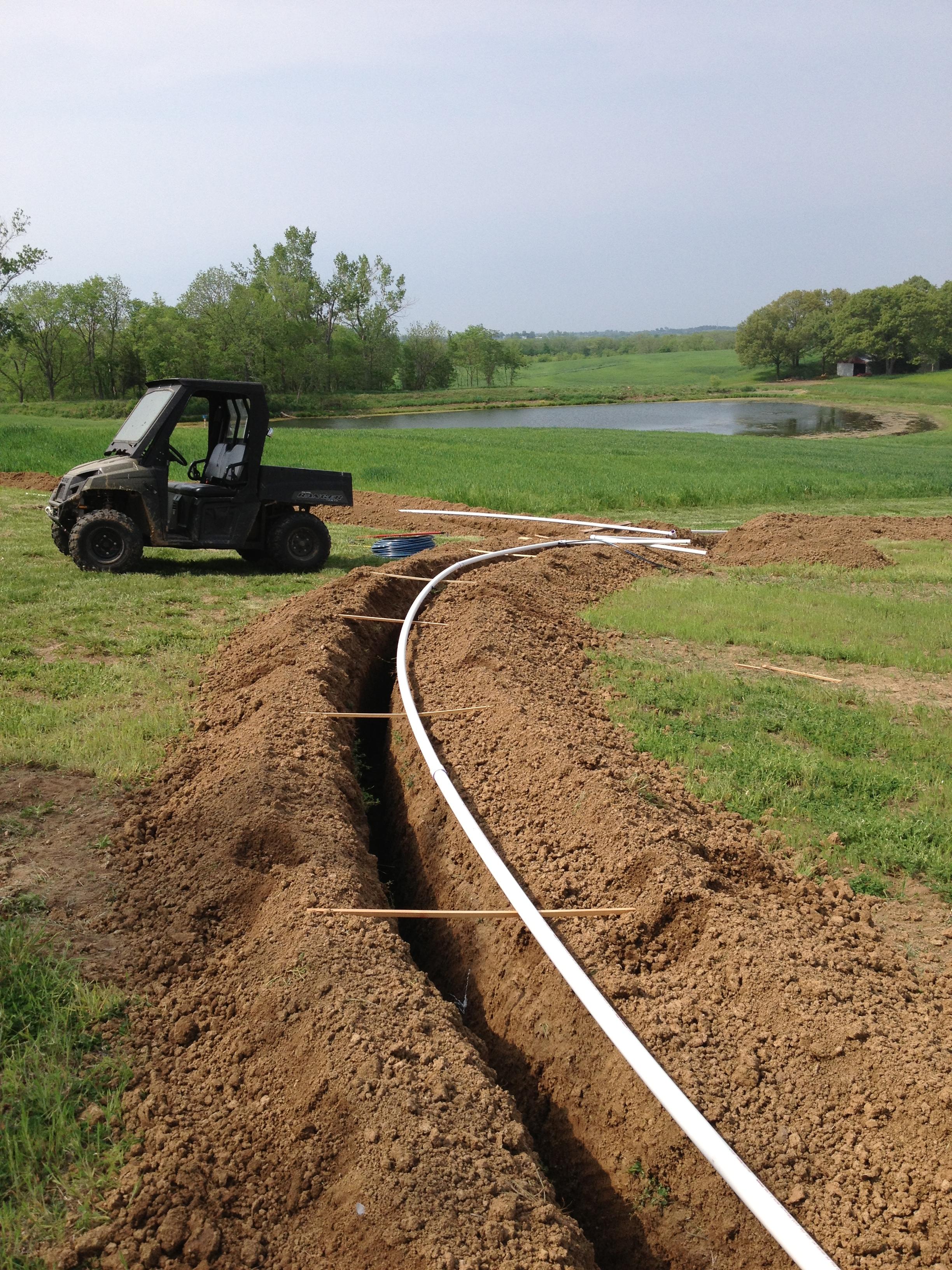 Preparing the pipe