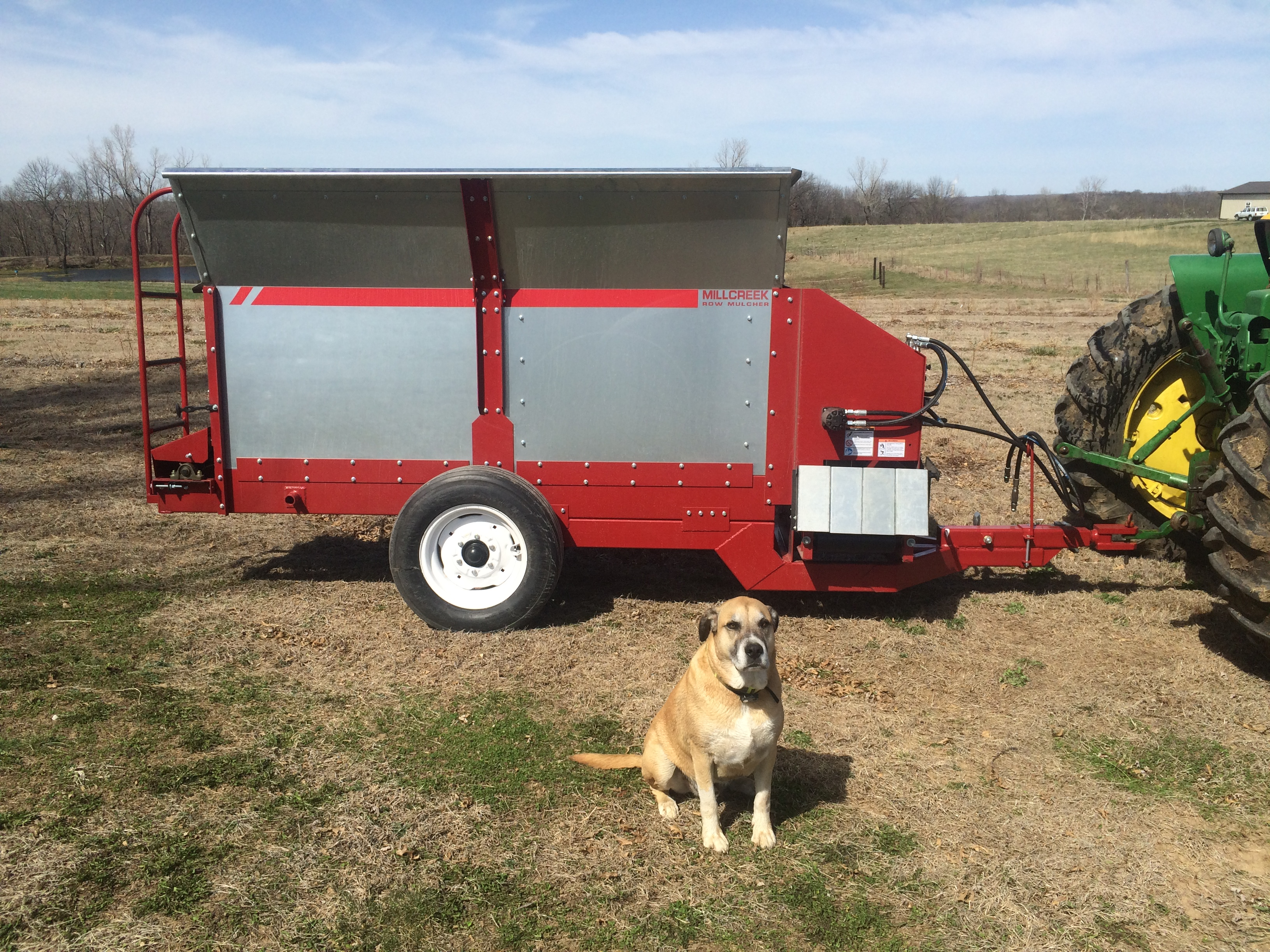 Huck and the new row mulcher