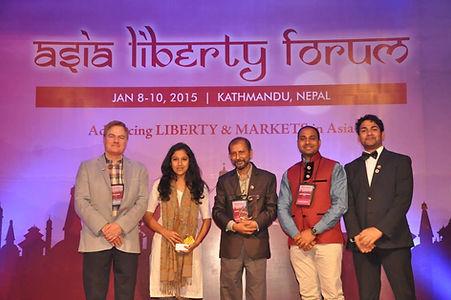 Jeevika Award receipt at Asia Liberty Fo