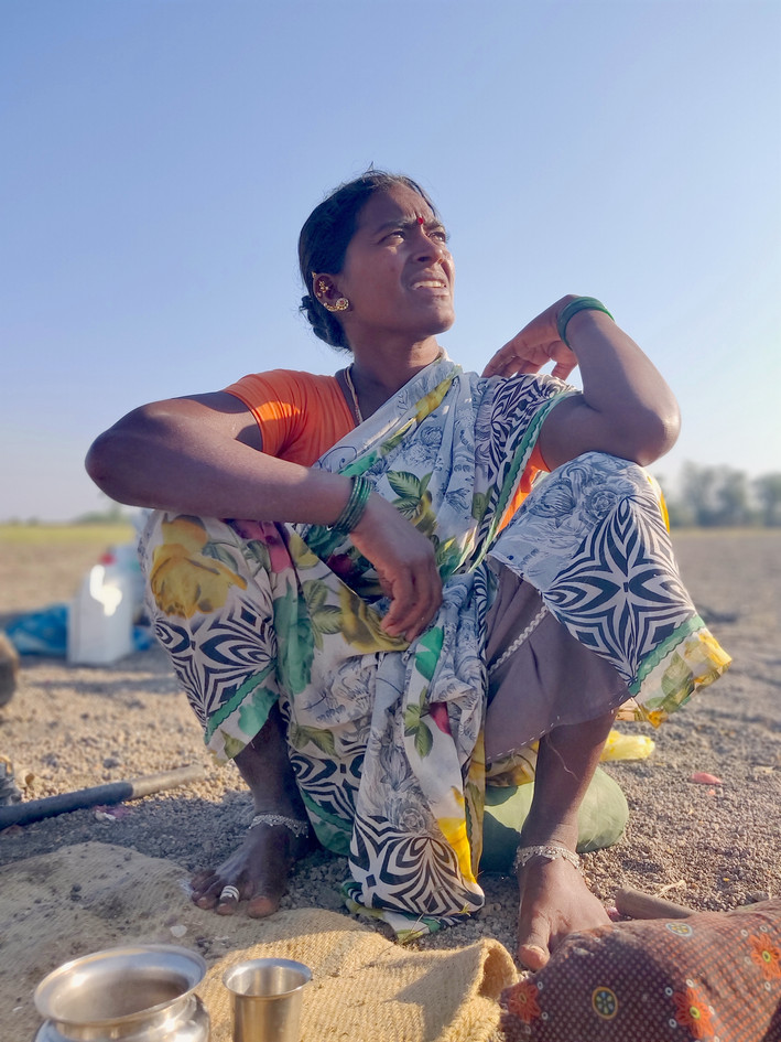 3. Portrait of shepherd_s wife in Koppal