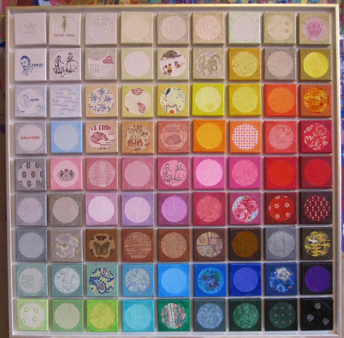 Schilderij 81 cirkels