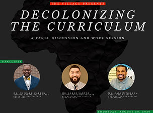 decolonizing curriculum flyer - the vill