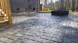gray paver patio installation and design