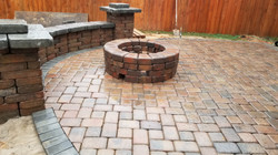 patio with gas fire pit
