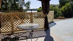 pool deck with lattice