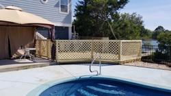 poolside lattice and gate