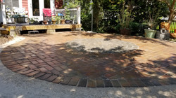 circle paver patio with inlay in west as