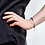 Thumbnail: Layered Loose Rings Bracelet (black steel rings)