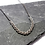 Thumbnail: Stainless Steel Partial Rope Chain Necklace