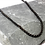Thumbnail: Stainless Steel Double Chain Link Necklace (black steel)