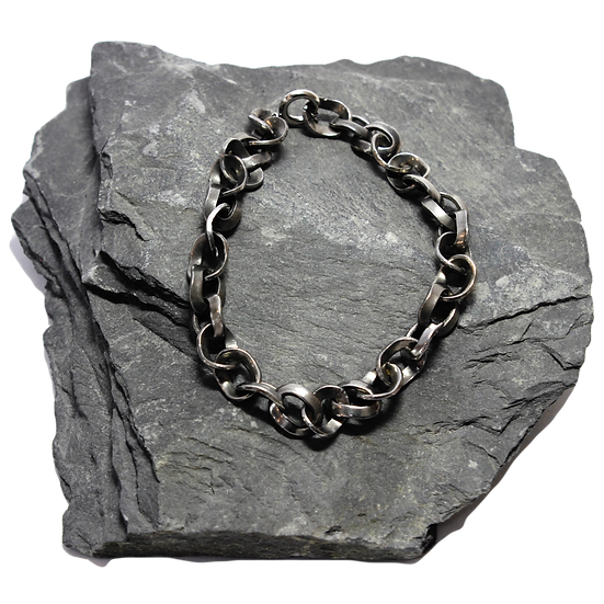 Stainless Steel Curved Chain Bracelet