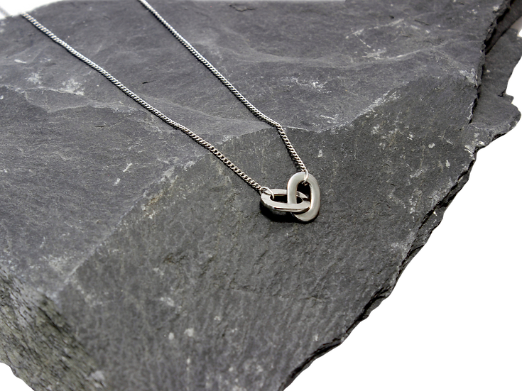 """""""Linked"""" Stainless Steel Chain Necklace"""