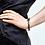 Thumbnail: Hammered Stainless Steel Flat Chain Bracelet
