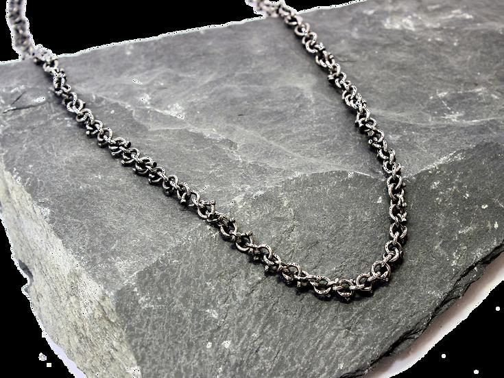 Steel Veneer Nail Chain Necklace
