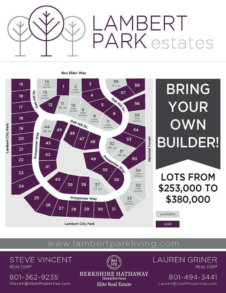 Lambert Park Estates Lots Available Flye