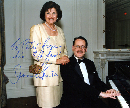 With Diane Feinstein, San Francisco, 1998