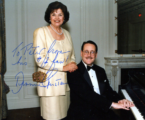 With Diane Feinstein, San Francisco, 1998