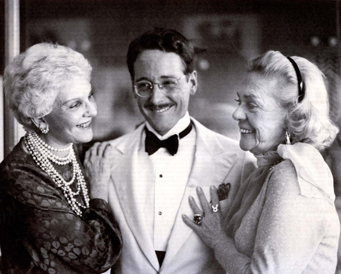 With Mary Martin, Alice Faye, 1981