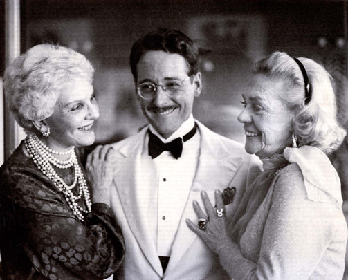 With Mary Martin, Alice Faye, 1981