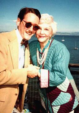 With Mary Martin, 1981