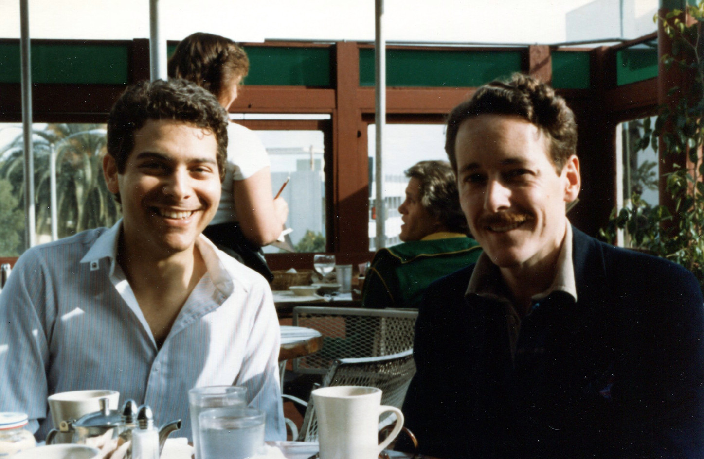 With Michael Feinstein, 1983
