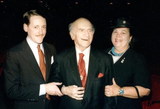 With Dave Rubinoff and Darlene Azar, April 27, 1986