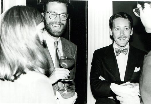 With Alexander Julian, June 1, 1982